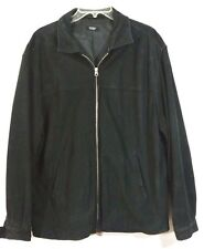 Black Suede Sport Bomber Jacket/Coat Expert Evergreen Casual XL Mens