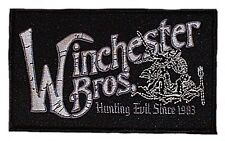 "Supernatural WINCHESTER Bros. Logo 5"" Wide Embroidered PATCH"