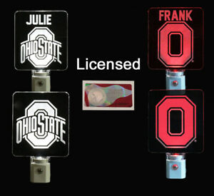 Personalized Ohio State Buckeyes Night Light - Officially Licensed