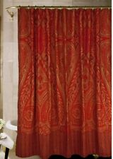 NWT Rose Tree Fabric Shower Curtain ALEXANDRIA 72x72 Burgundy Red Spice NIP