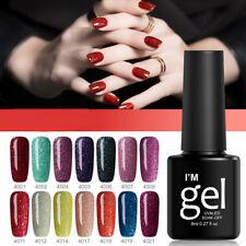Women Glitter Nail Polish Varnish Oil Glue Manicure Tool Supplies Beauty