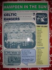 Celtic 7 Rangers 1 - 1957 League Cup Final - souvenir print