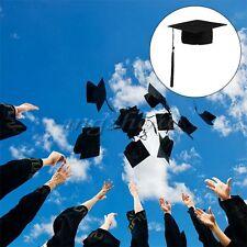 Black Mortar Board Hat Adults Teacher Student College Graduation Cap Fancy Dress