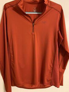 Arc'teryx Cormac 1/4 ZIp Long Sleeve Shirt Pullover Performance Orange Medium