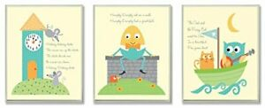 The Kids Room by Stupell Classic Nursery Rhyme 3-Pc. Rectangle Wall Plaque Se...