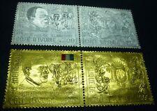 Elfenbeinküste Ivory Coast 1970 Unabhängigkeit Elefanten Gold Silber 368-71 MNH