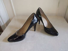 Ellen Tracy Lovely Black Patent Classic High Heels Court Shoes EU 40 UK 7