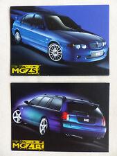 Mg rover ZT-t 190/ZS 180 - 2x folleto mapa folleto brochure 07.2001