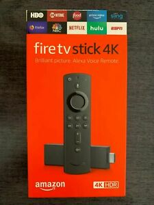 Amazon Fire TV Stick 4K Streaming Media with Alexa Voice Remote (includes TV co
