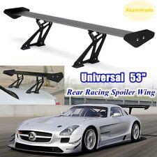 "Universal 53"" Aluminum Black Adjustable GT-Style Rear Car Trunk Spoiler Wing USA"