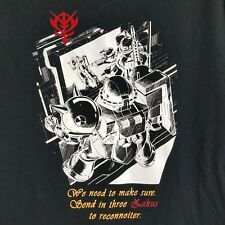 NEW RARE Mobile Suit 7 Gundam Black Small Shirt, Send in 3 Zakus to Reconnoiter