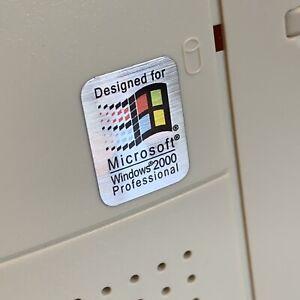 Windows 2000 Professional Designed For Computer Pentium Case Badge Sticker PC