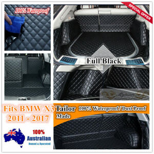 Custom Made Car Boot Cargo Mats Wheel Arches Cover Liner for BMW X3 2011 - 2017
