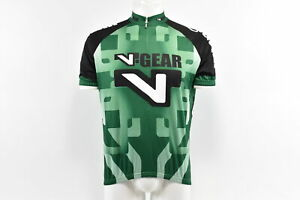 Verge V-Gear Men's S/S Cycling Jersey, Green, Size Large, Brand New