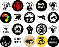 Black Panther Party 20 New 1 Inch POWER Pinback Button Badges Black Lives Matter