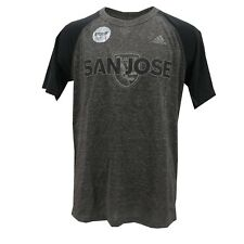 San Jose Earthquakes MLS Adidas Kids Youth Size Reflective Athletic Shirt New