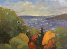 Shane Harris Original Oil Painting Impressionist Abstract Landscape Signed Lake