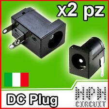 2X CONNETTORE ALIMENTAZIONE DC Spina Arduino POWER PLUG PCB angolare 5,5 x 2,2