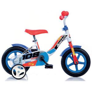 Bicicletta per Bambino 10 Pollici con Rotelle 2 3 4 anni Bici Bimbo Dino Bikes
