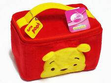 Pooh Red Cosmetic Makeup Bag Travel Accessory Plush Case Winnie the Pooh