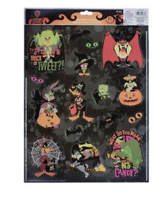 LOONEY TUNES Rare Halloween 18 Piece Static Window Clings Vampire Taz