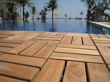 Teak Hardwood Flooring Solid Tile Bathroom Spa Wet Interlocking Floor Deck Wood
