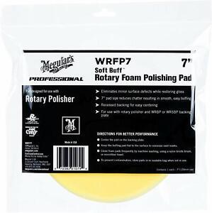 "Meguiar's 7"" Soft Buff Rotary Foam Polishing Pad, WRFP7"