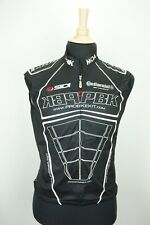 MOA Bicycle Cycling Sleeveless Black Top Jersey Made Italy PBK Mens Sz M
