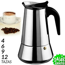 CAFETERA ITALIANA ACERO INOXIDABLE EXPRESSO CLASICA MOKA 4 6 9 12 tazas COFFEE