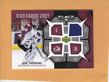 JOSE THEODORE 2007 08 BLACK DIAMOND JERSEY # BDJ-TH COLORADO AVALANCHE