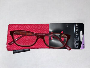 READING GLASSES MAGNIVISION FOSTER GRANT PINK +3.25 NEW WITH TAGS!
