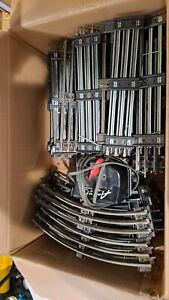 LIONEL O GAUGE TRACK LOT CURVED AND STRAIGHT AND DAYTON TRANSFORMER USED
