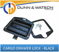Black Cargo Drawer Lock / Handle (Trailer Caravan, Toolbox Drawer System) Drop T