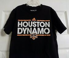 Boy's Girl's Youth Adidas Houston Dynamo Short Sleeve Shirt Size 10-12 MLS