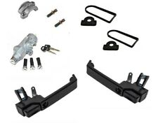 Defender Front Gloss Black Door Handle Kit - One Key Puma Style Lockset LRC1357