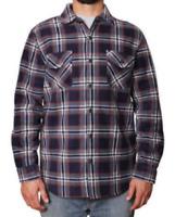 New Mens' Freedom Foundry Sherpa Lined Plaid Fleece Jacket Shirt Top
