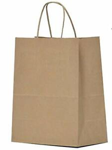 Paper Gift Handles 8x4.25x10.5 25 Pcs Brown Shopping Party Goody Bags