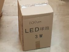 FULL CASE LOT - 100pc x 3W LED Ultra *Bright White* LED Bulb 120V-E27 *US SHIP*