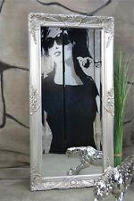 Wandspiegel Spiegel Barock Antik Modern Weiß Silber Gold Schwarz 100 X 50 Cm