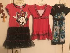 Lot of 12 Girls Size 7 Clothes Justice Disney Gymboree Dresses 3 Tops 8 Pants