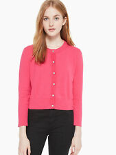 KATE SPADE Women's Begonia Bloom Jewel Button Cropped Cardigan Size M $198 NWT