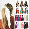 Solid Floral Women Hair Ties Scrunchie Accessories Elastic Rope Bow Scarf Band