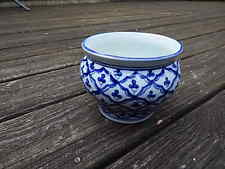 GUMPS THAILAND BLUE/WHITE PORCELAIN VASE USA SALE