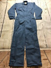 New Industrial Work Coverall Navy/Post Blue by REED-USA- 65%Polyester/35%Cotton