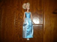 Mattel 2007 Disney Cinderella Princess Doll Blue Bodice & Skirt