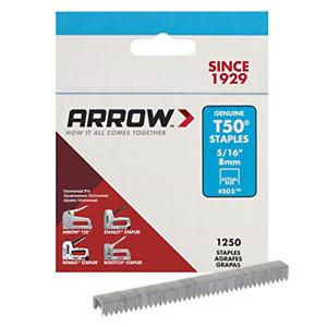 Arrow Staples T50 Box 1250 - 5/16 in