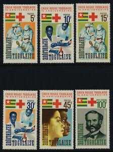 Togo 553-7, C51 MNH Red Cross, Medicine, Henry Dunant