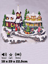 Christmas Village Musical Scene Traditional Decoration Animated with LED Lights