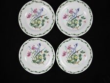 Queens Garden Bone China Bread Dessert Plates Royal Horticultural Floral 4 Set