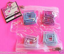 40pc Victorian Charm Square Paper Clips w/ Zipper Plastic Bag Pink Mauve & Blue